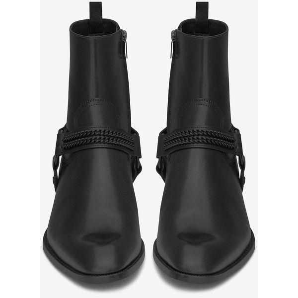 f3fcc0e25d7 Saint Laurent Wyatt 40 Chain Harness Boot ( 1