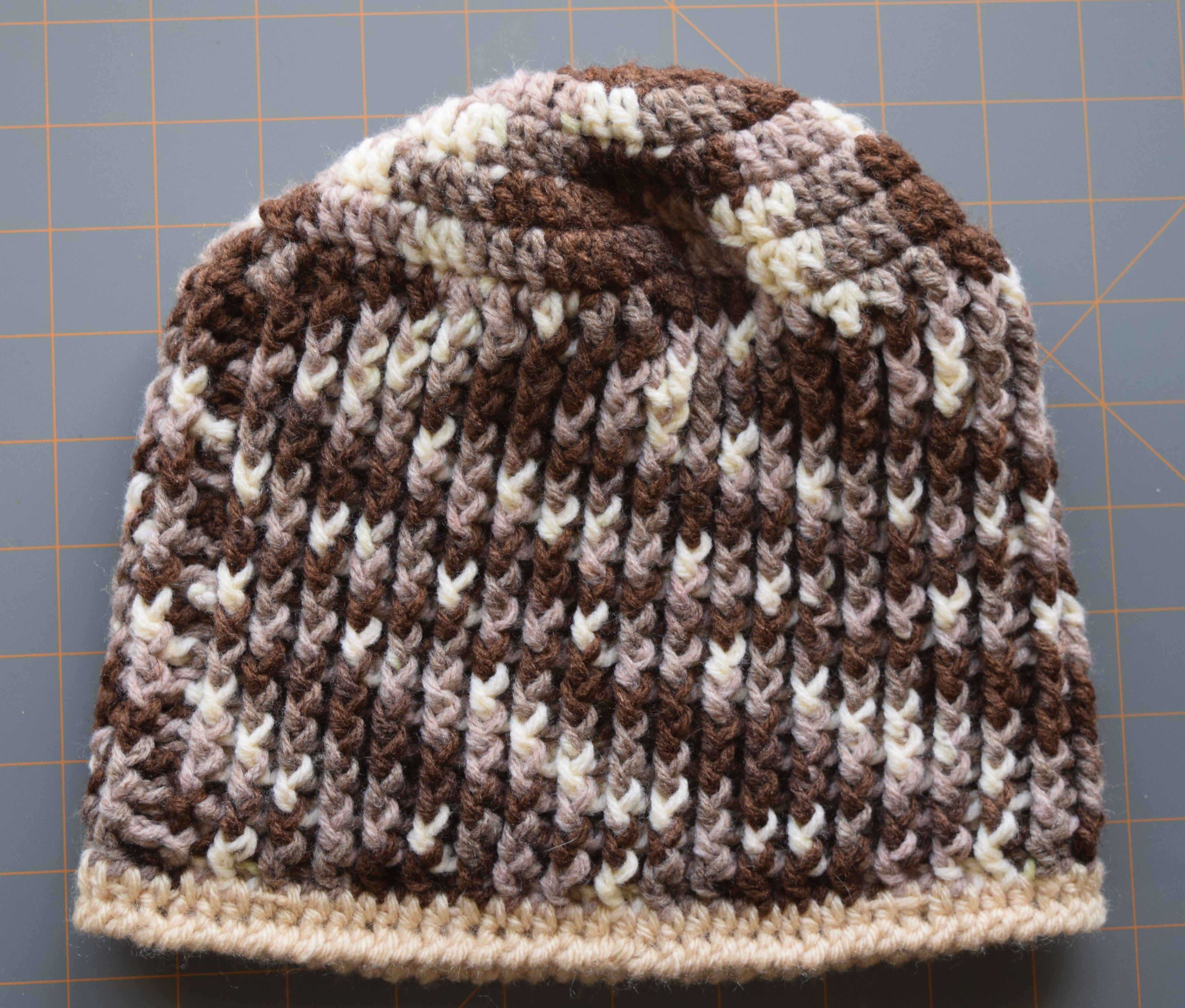 Hand crocheted camo hat for child or small adult.  54a07bc01d33