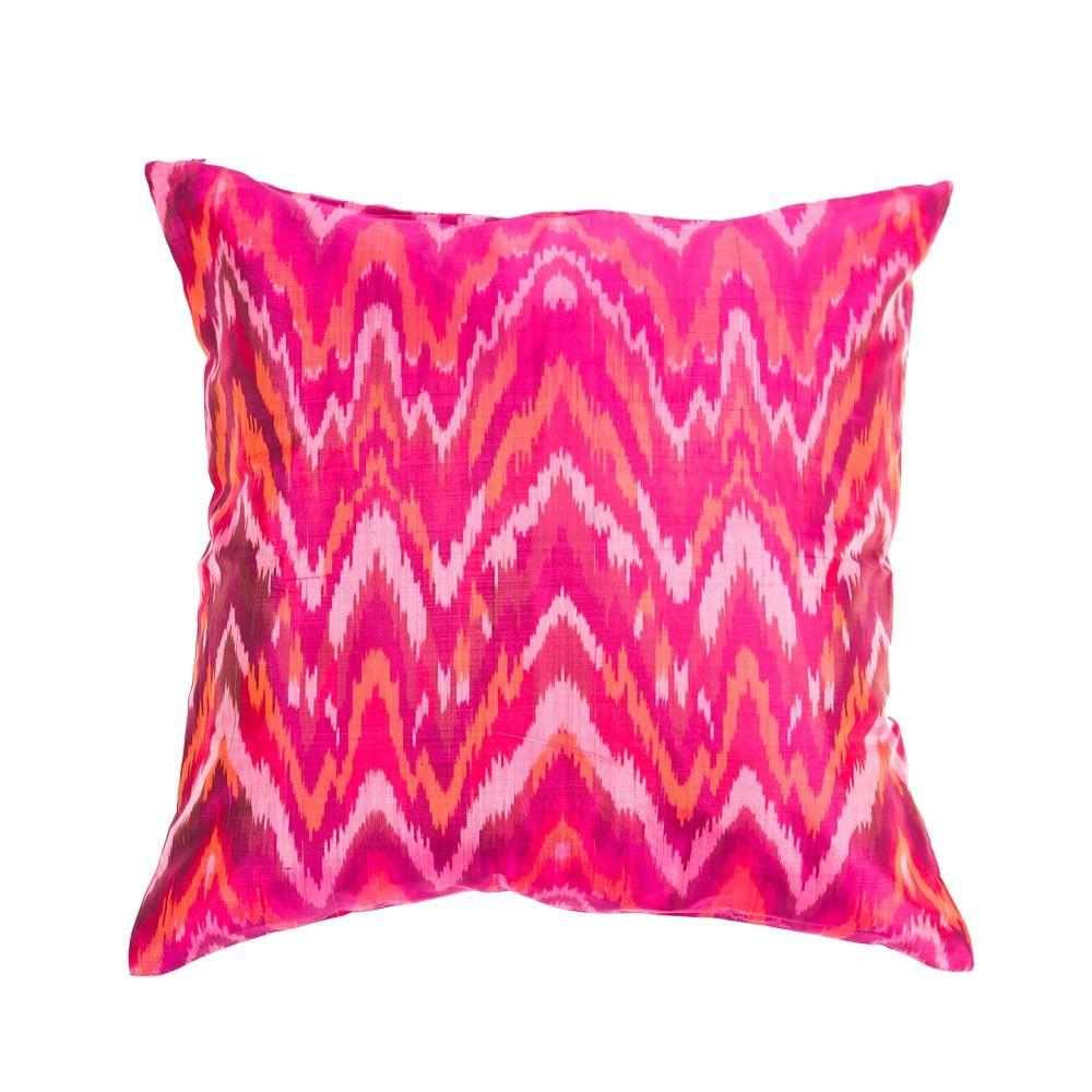 pink silk pillow