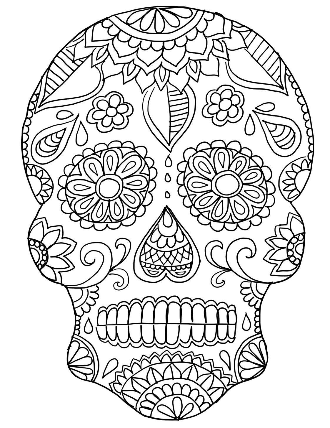 Pin On Color Dia De Los Muertos Pages