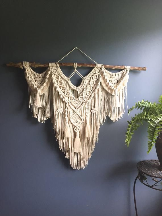 Large macrame wall hanging/ boho wall hanging/ large woven wall hanging/ macrame decor/ wall tapestry/ bohemian hanging/ macrame wall art