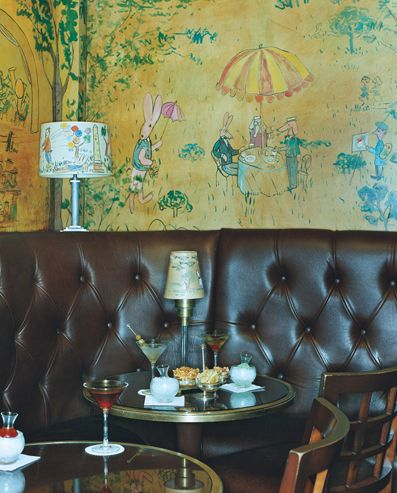 Bemelmans Bar in the Carlyle Hotel, featuring murals by illustrator Ludwig Bemelmans
