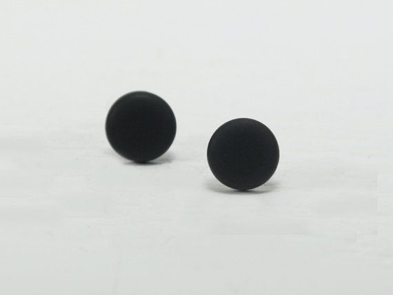 Black Stud Earrings Studs Matte By Biesge 10 00
