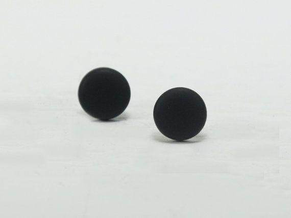 Black Stud Earrings Studs Matte Posts Mens For Men