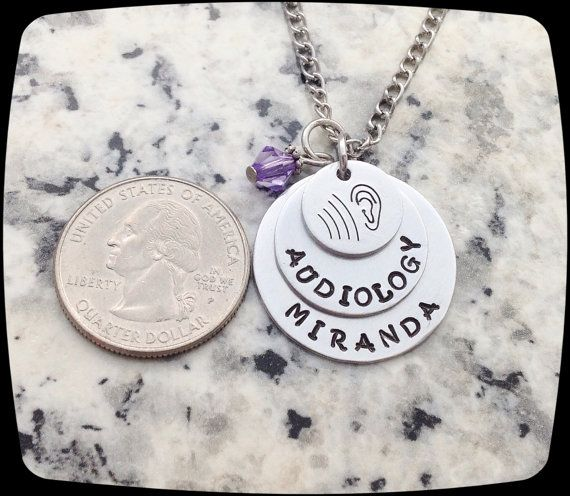 Audiologist Gift, Audiology Staff, Rehab Office Professional Jewelry Necklace, Hearing Therapy Gift    ♥▬▬▬▬▬▬▬▬▬♥ To Personalize ♥▬▬▬▬▬▬▬▬▬♥  ♥