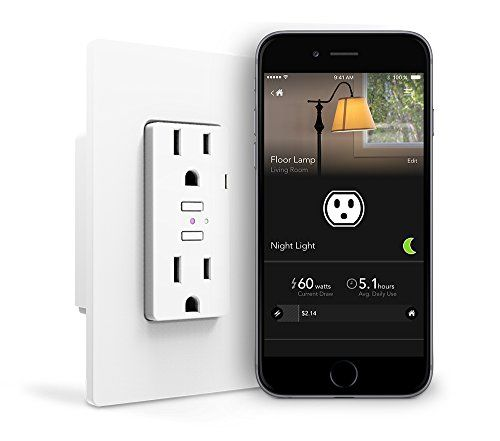 idevices wall outlet wifi smart outlet w energy on wall outlet id=46940