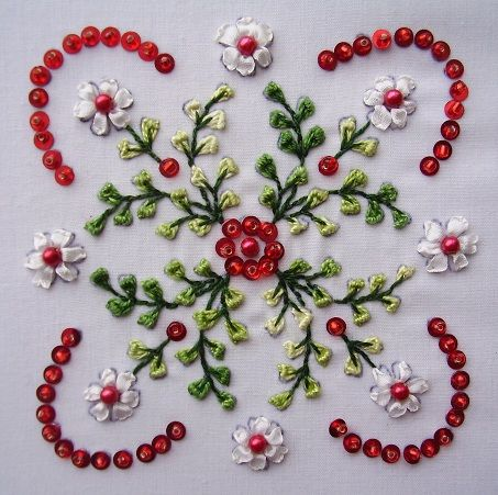 Herrschner Design Ribbon Embroidery Beadwork And Embroidery