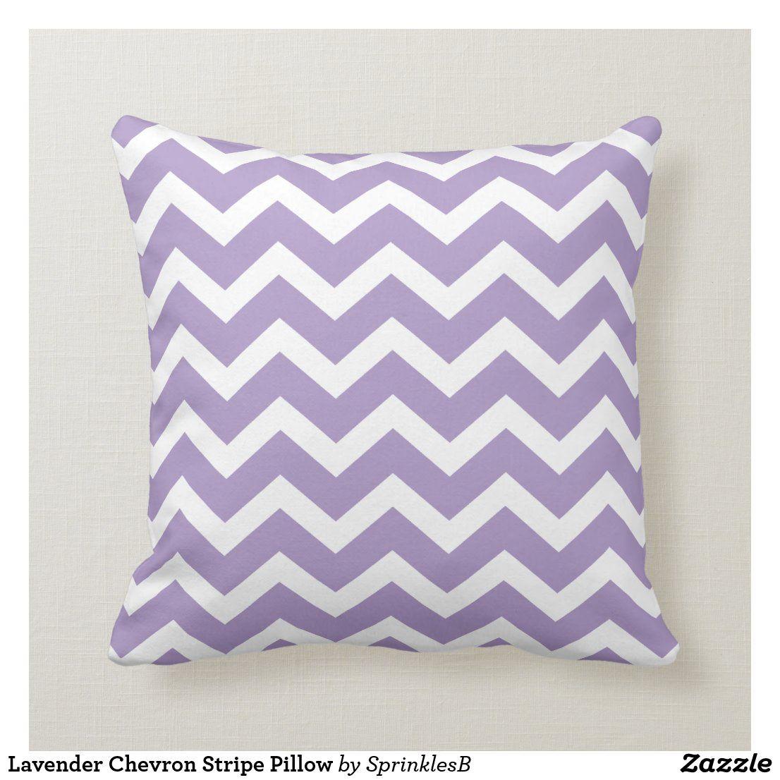 Lavender Chevron Stripe Pillow