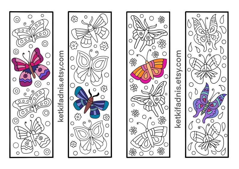 Butterfly Coloring bookmarks bookmarks coloring page