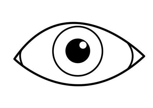 Kleurplaat oog   Kleurplaten, Oog, Gratis kleurplaten
