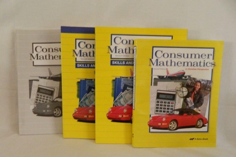 ABeka Consumer Math Student w. Teacher Reviews, Test / Key School ...