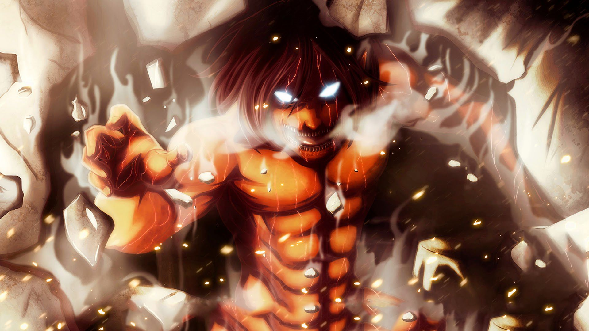 Eren Yeager Titan Computer Wallpapers Desktop Backgrounds 1920x1080 Id 606229 Attack On Titan Eren Attack On Titan Anime Wallpaper