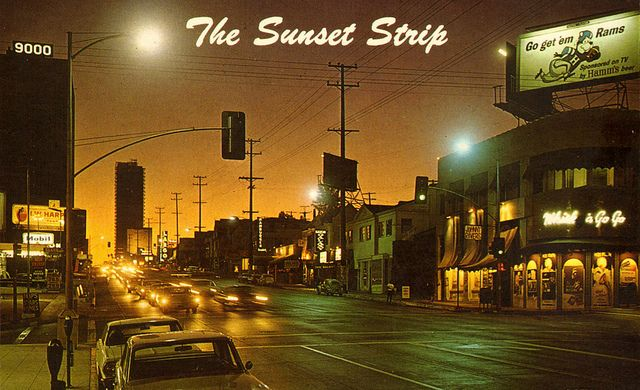 The Sunset Strip - Hollywood, California by The Pie Shops, via Flickr,#volvejoyride
