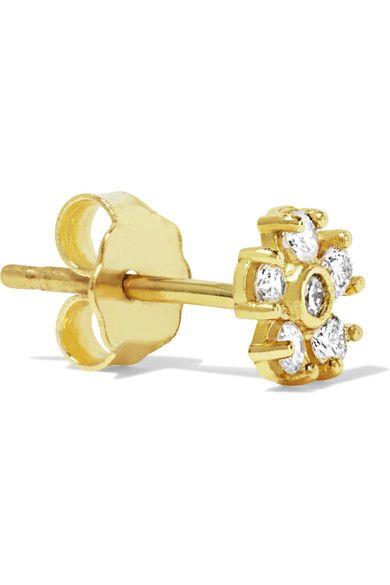 Mini Rectangle 18-karat Gold Earrings - one size Jennifer Meyer BWwhY