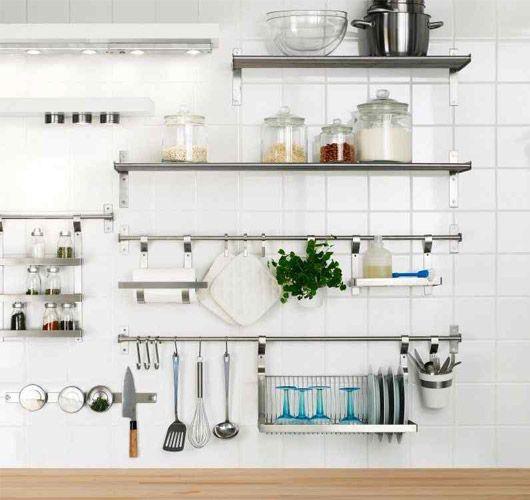 Навесные полки для кухни - 13 примеров. | Дизайн полок ...