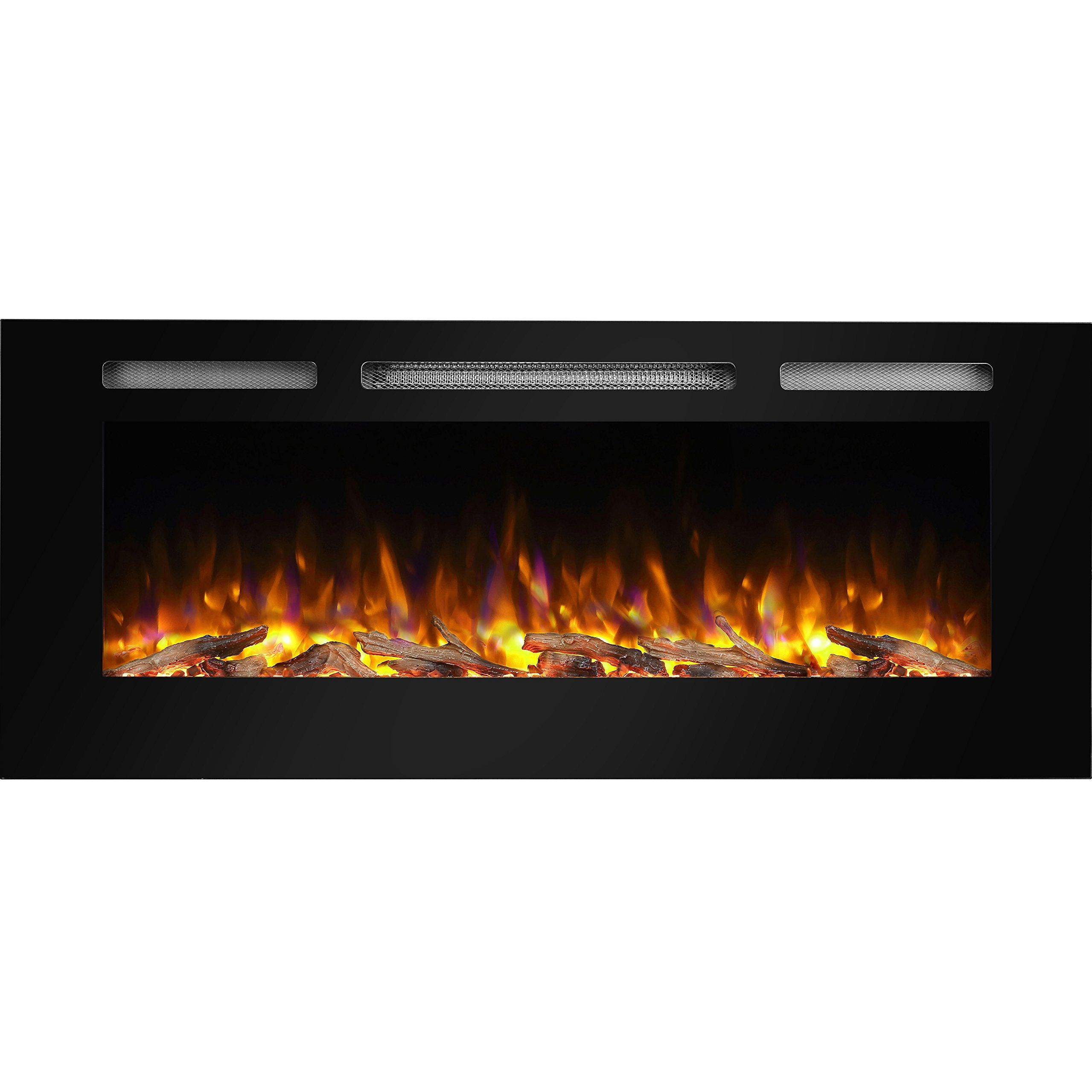 puraflame alice 48 recessed electric fireplace wall mounted for 2