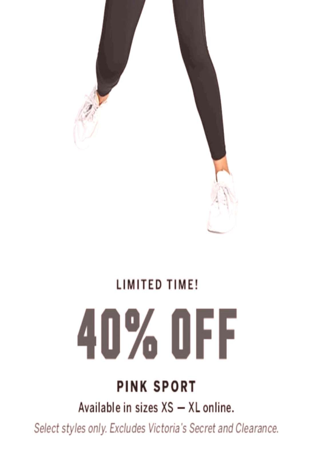 #peopleshoes #offselect #workout #clothes #nation #styles #pink #only #more #text #are #one #and #40 #or Pink Nation workout clothes are 40% off...select styles only . . You can find Money saver and more on ou...