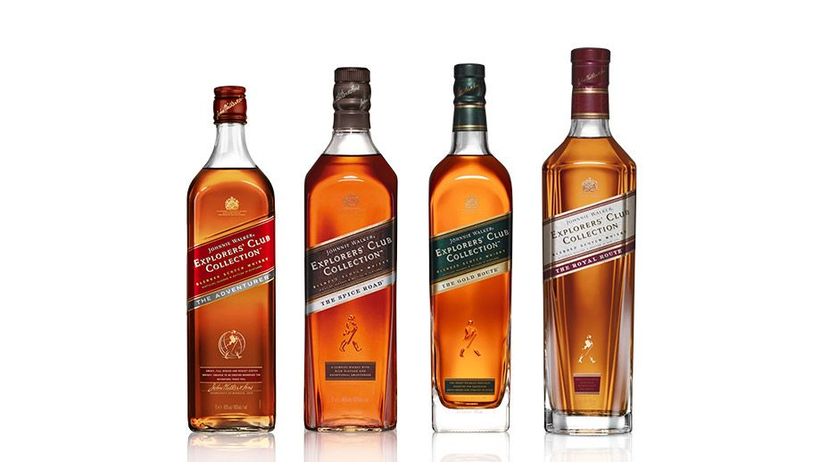 Bottles Of Johnnie Walker Explorers Club Collection Whisky Range
