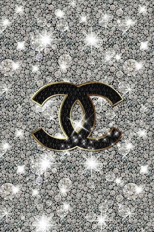 Pinned By Thechanelista On Pinterest Bling Wallpaper Chanel Wallpapers Glitter Wallpaper
