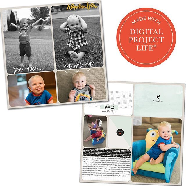 """""""@vlaurnoff allowed her cute son take center stage on her #ProjectLife pages by using the clean, minimalist, awesome designs of the new Everyday Edition. Pick up the digital kit through today to save 20%. Remember: This is also available in physical format now, and this edition will eventually make its way to the app as well. @LizTamanaha #DigitalProjectLife #ShopBeckyHiggins"""" Photo taken by @beckyhigginsllc on Instagram, pinned via the InstaPin iOS App! http://www.instapinapp.com…"""