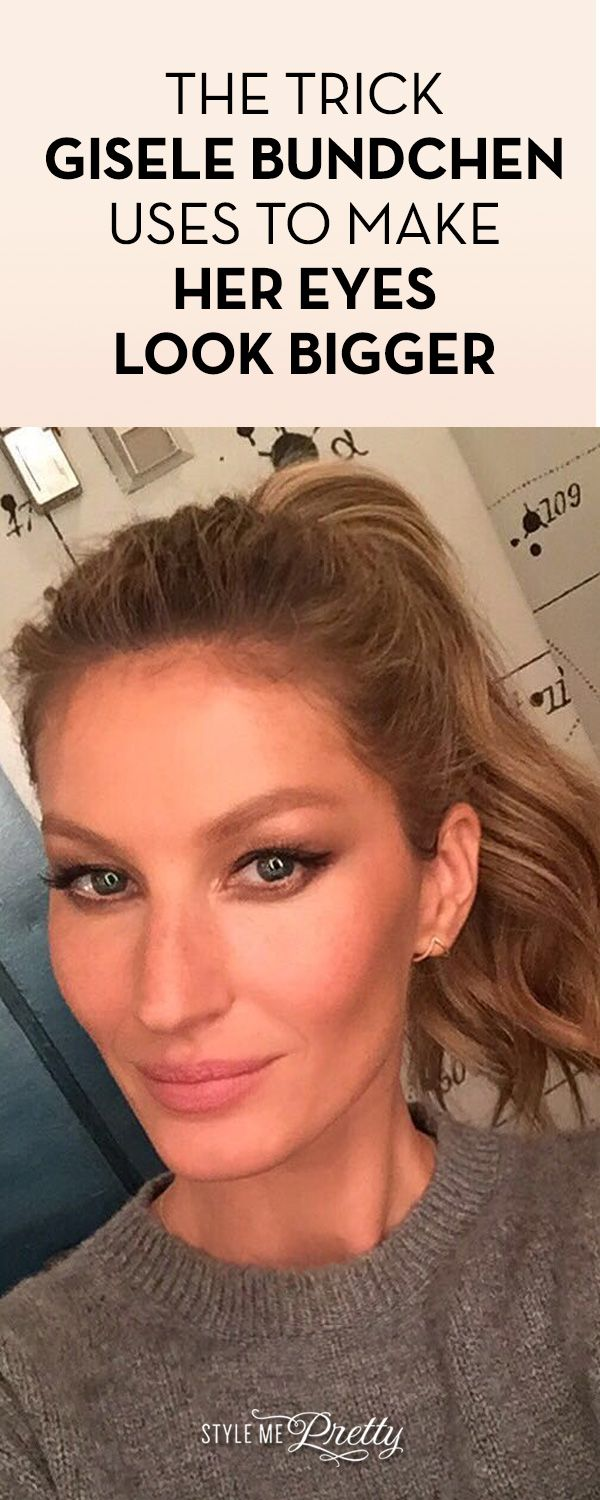 The Trick Gisele Bundchen Uses To Make Her Eyes Look Wider