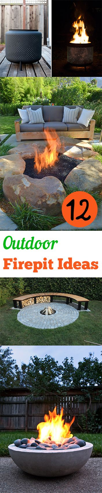 DIY Outdoor Firepit Ideas- Amazing Firepit ideas for your backyard or patio.