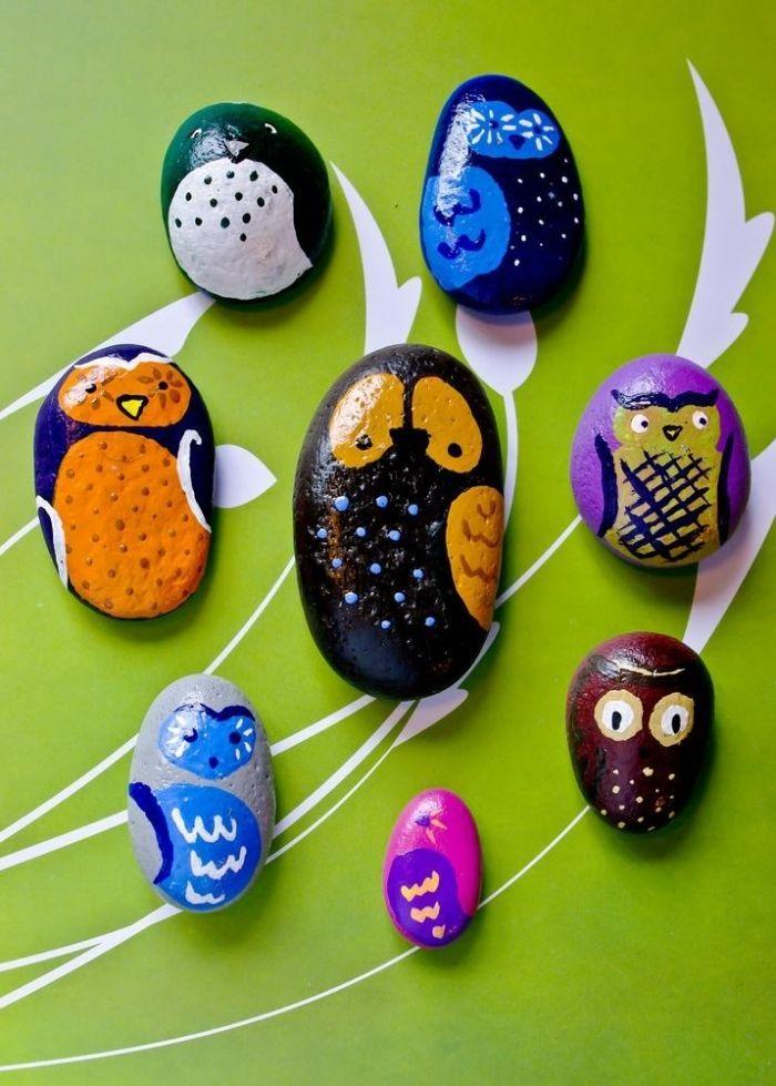 Deko für den Garten zum Basteln mit Kindern-Steine bemalt als - garten mit steinen dekorieren