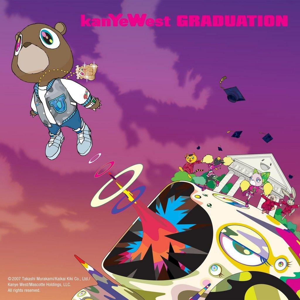 Kanye West Graduation I Love Art By Takashi Murakami Kanye West Album Cover Graduation Album Rap Album Covers