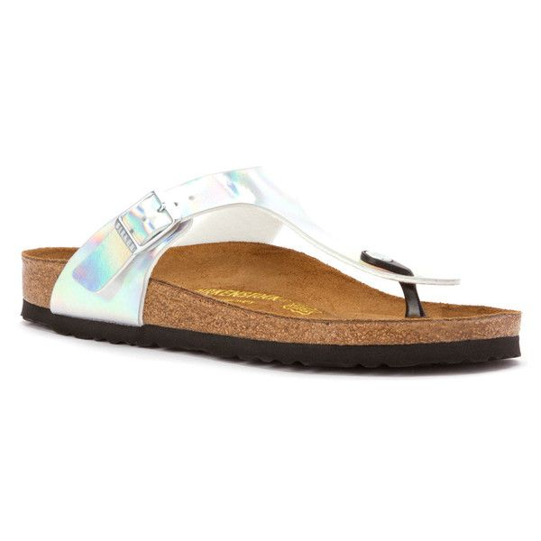 Silver sandals, Birkenstock gizeh