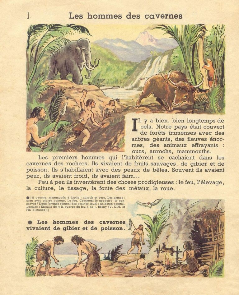 1 Les Hommes Des Cavernes French Souvenirs Prehistory Learn French