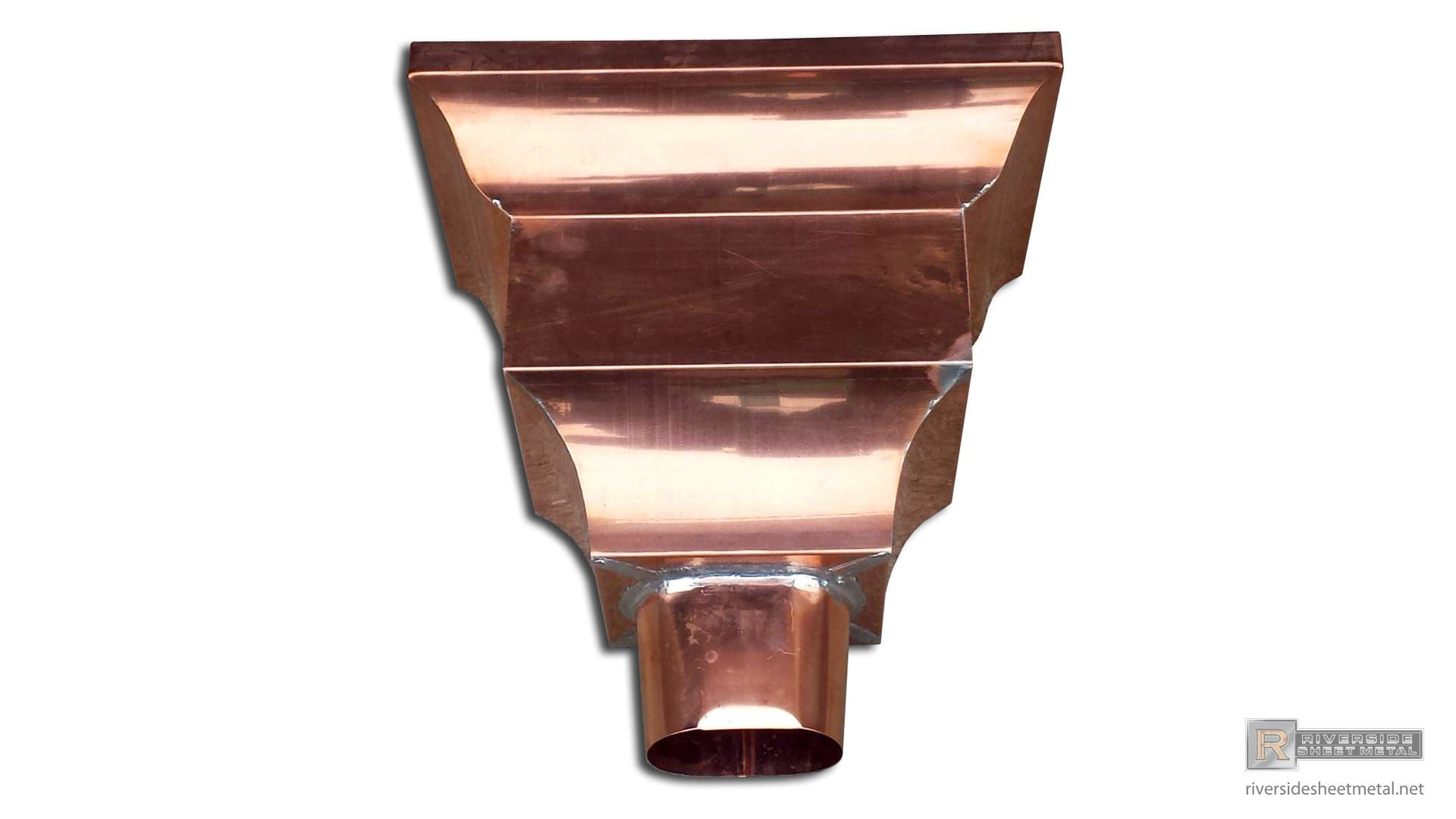 Federal Style Copper Leader Head Galvanized Steel Copper Rain Head