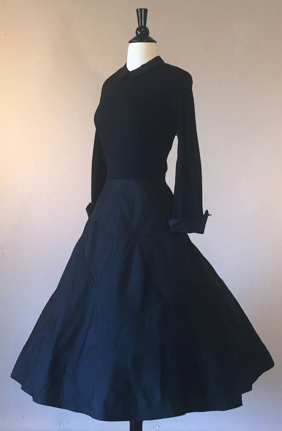 Reserved us inky black dior new look inspired dress