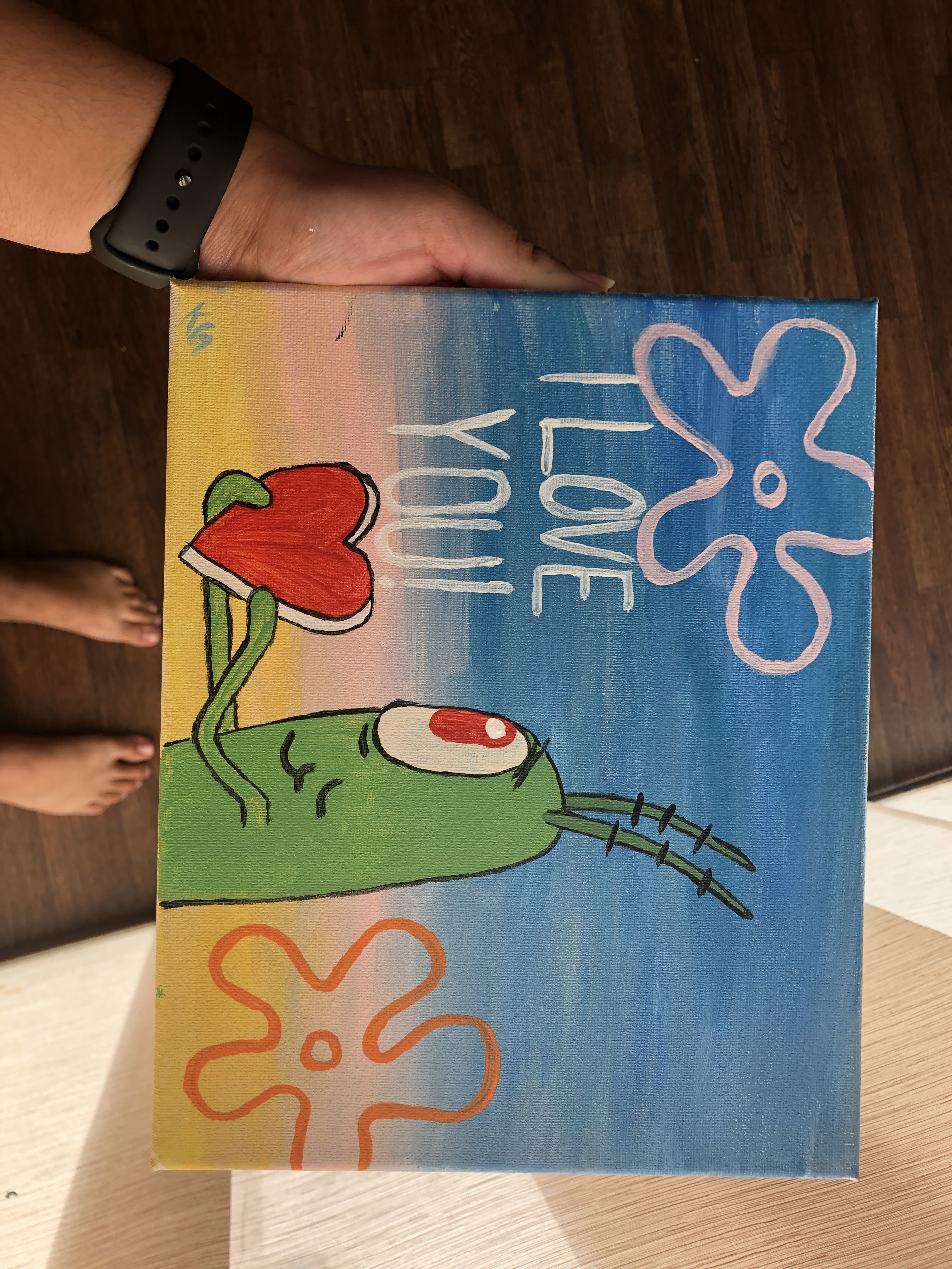 Painted This For My Boyfriend Painting Cards Art