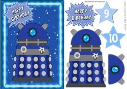 Blue Dalek  with stars in the sky A5 on Craftsuprint - View Now!