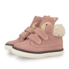 Zapatillas Deportivas Tipo Botin De Nina En Rosa Detalle De Cara De Un Pequeno Zapatos Para Ninas Calzado Ninos Botas Zapatos