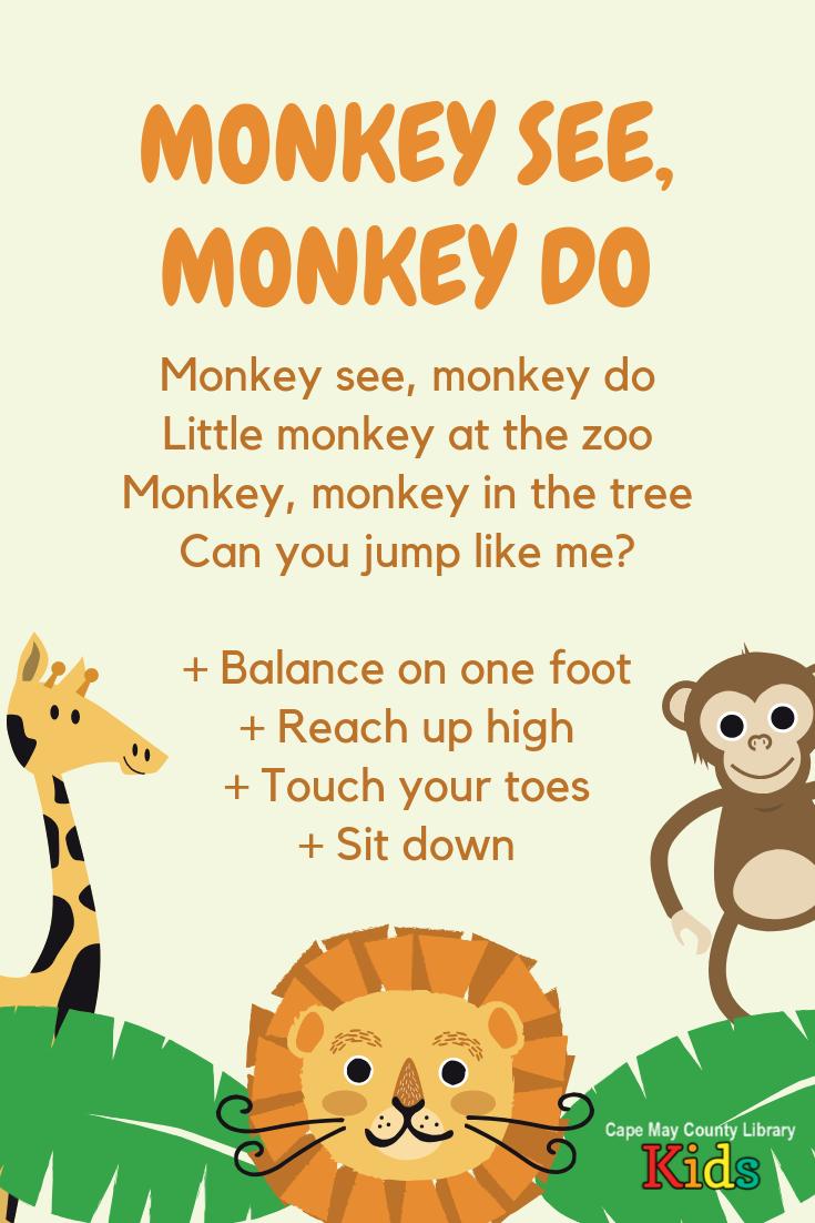 Monkey Storytime Rhyme