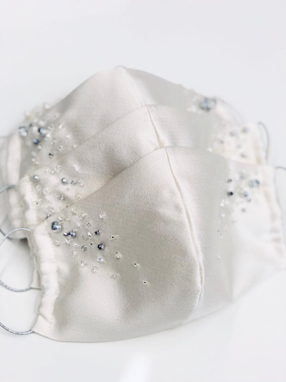 Photo of Bridal mask   Wedding mask   Silk wedding mask   Quarantine wedding   Wedding accessories   Hen party gift