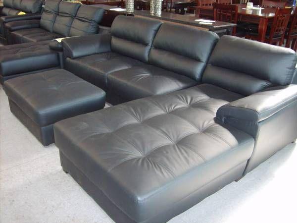 Milan Leather L Shape Sofa