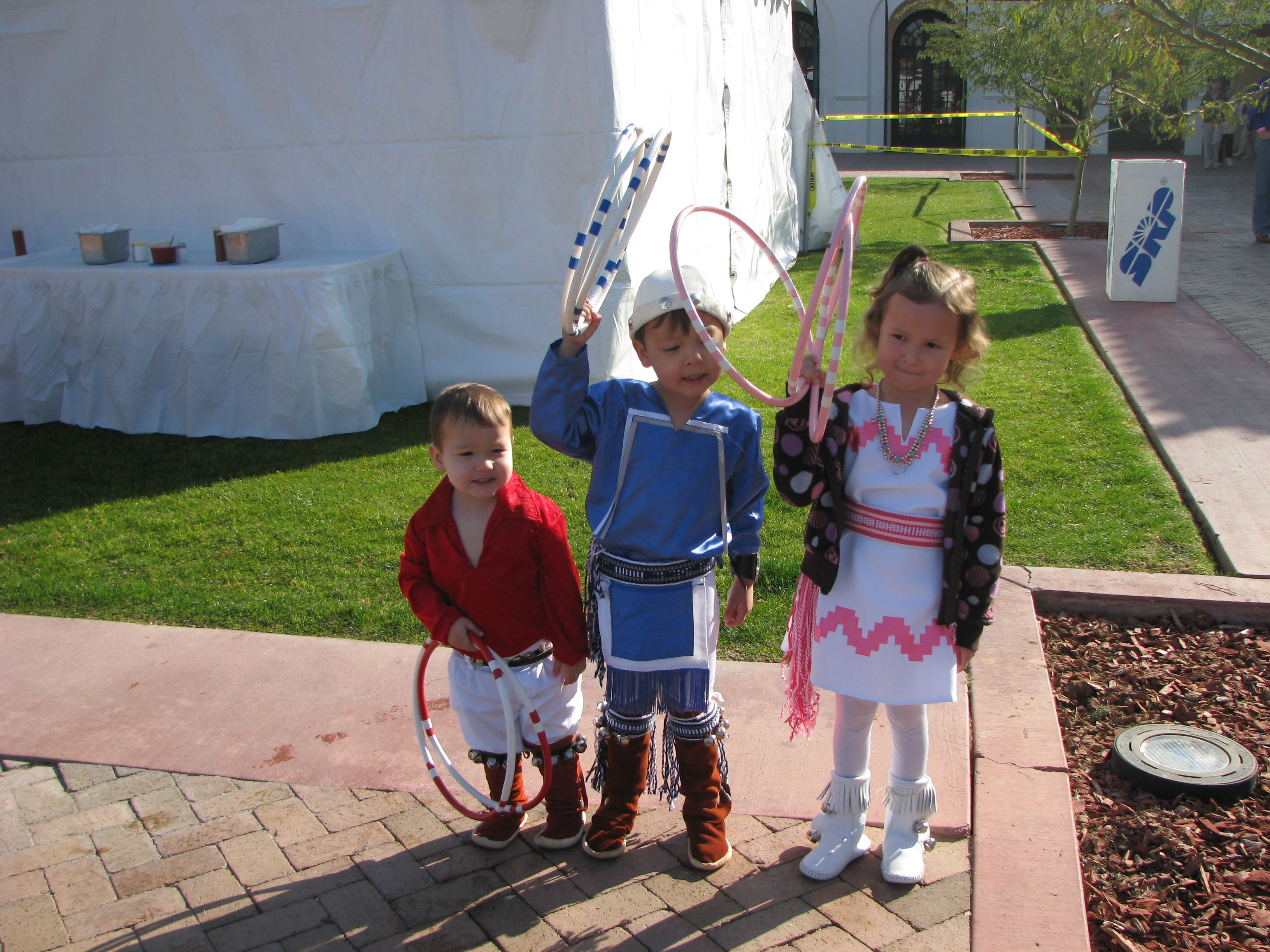 Hoop Dancers in Training - Heard Museum Phoenix