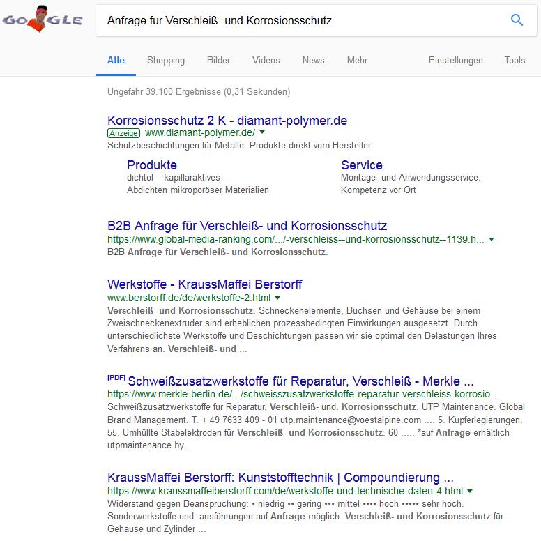 Anfrage für Verschleiß- und Korrosionsschutz - Google-Suche ...