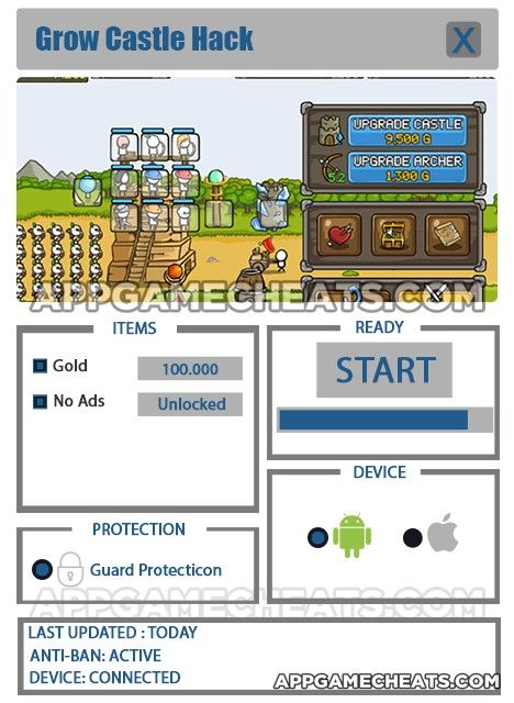 New Grow Castle Hack download updated  Grow Castle Hack 2016