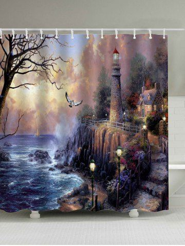 Oil Painting Fairyland Print Waterproof Shower Curtain Curtains