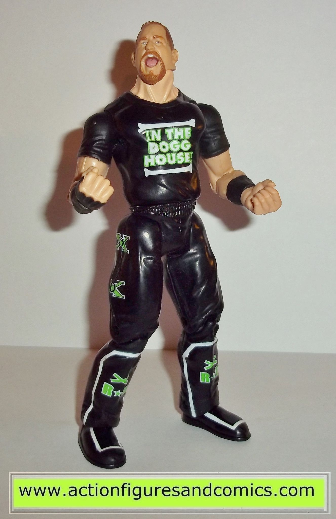 wrestling wwe action figures road dogg jesse james in the house shirt jakks pacific toys wwf