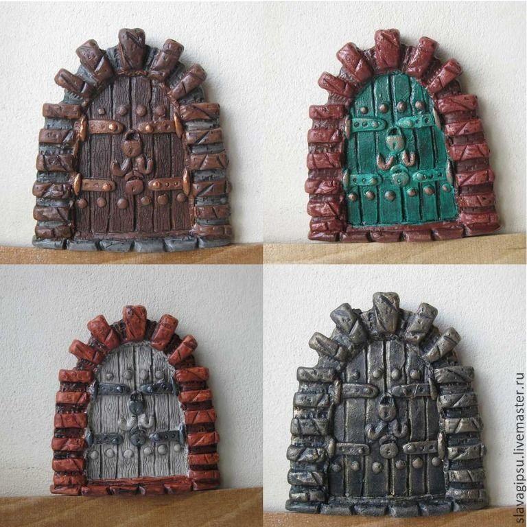 Купить Дверь в сказку. Fairy Door. - разноцветный, дверь, дверка, декор детской комнаты, миниатюра