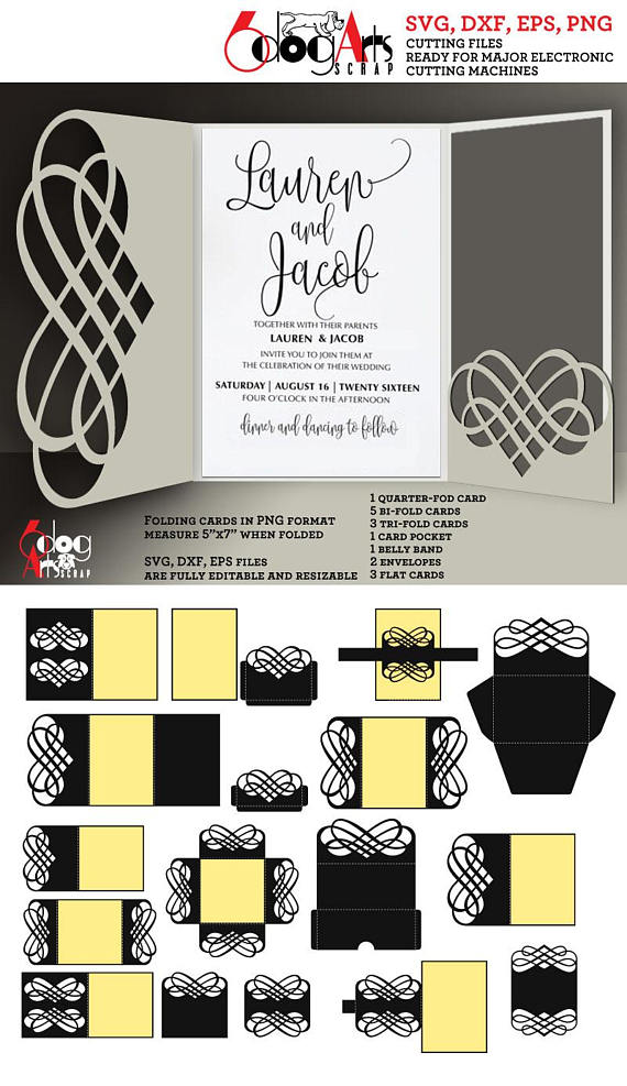 16 lace envelope card band templates digital cut svg dxf files 16 lace envelope card band templates digital cut svg dxf files wedding invitation stationery cuttable download silhouette cricut jb 920 belly bands stopboris Choice Image