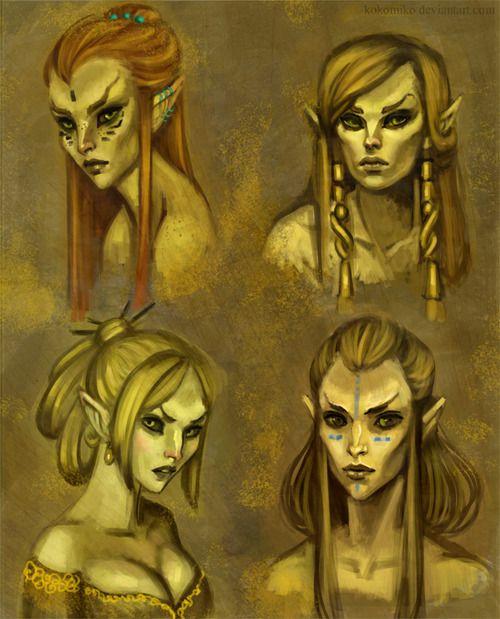 Altmer Ladies Look Like Dark Elves Just Saying Elder Scrolls Art Skyrim Art Elder Scrolls
