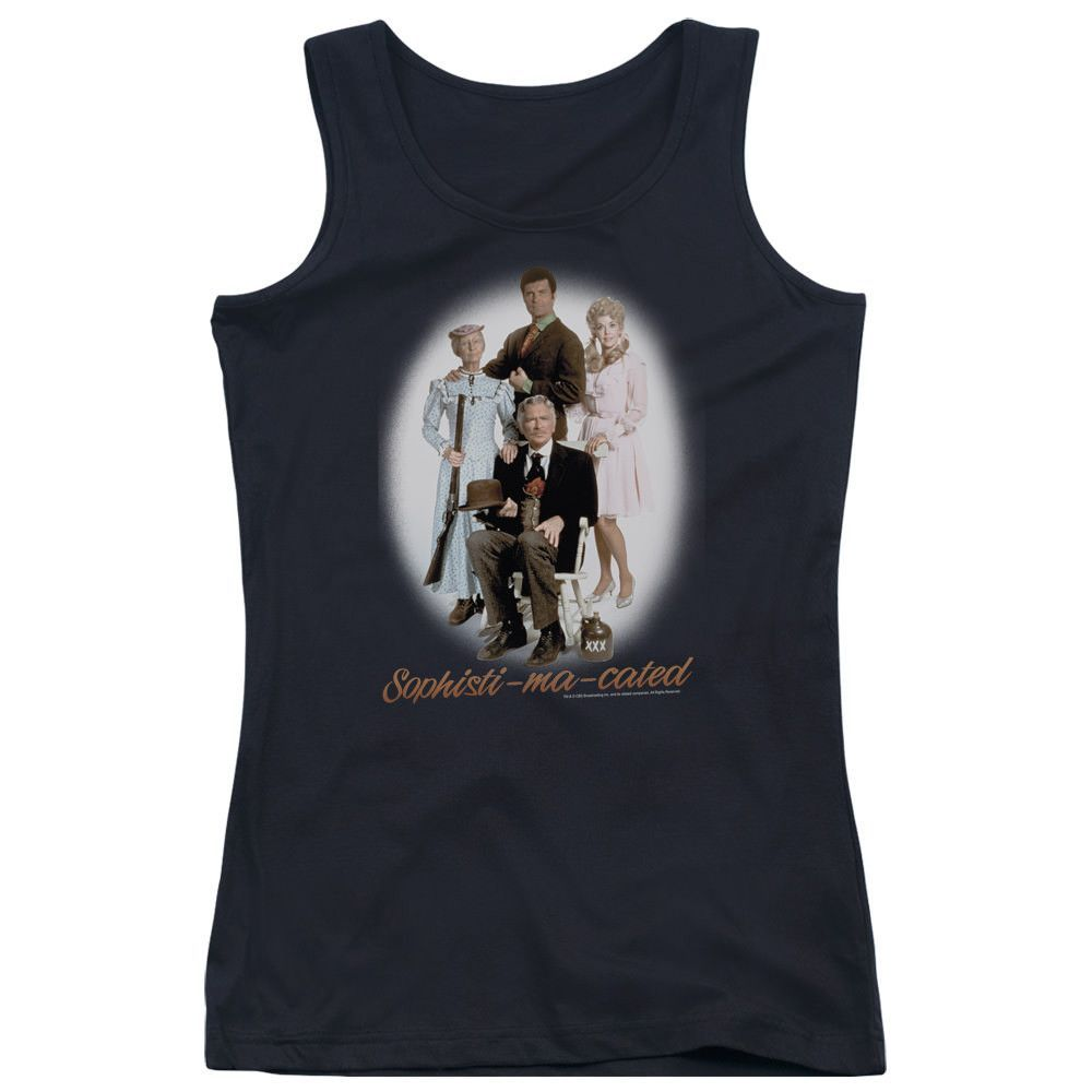 The Beverly Hillbillies Sophistimacated Black Womens Tank-Top T-Shirt