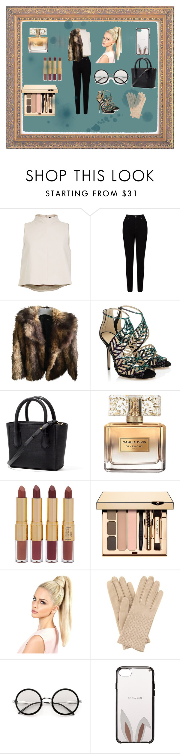 """Untitled #259"" by sonja-elcin ❤ liked on Polyvore featuring TIBI, EAST, ASOS, Jimmy Choo, Givenchy, tarte, Bottega Veneta and Kate Spade"