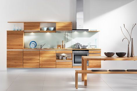 High-grade Wood Kitchen by Team 7 - the Linee Kitchen | Clean wood ...