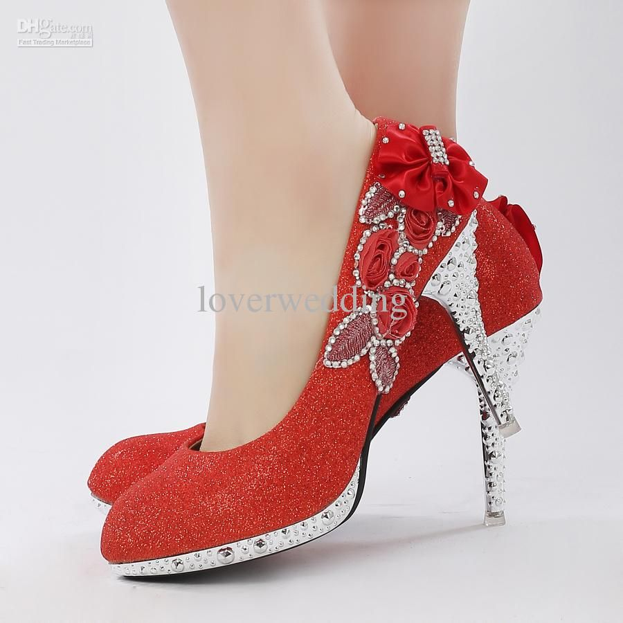Wedding Shoes Stylish Red Dress Love These